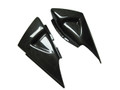Side Tank Cover - Large for Suzuki B-King 07-12 in Glossy Plain Weave Carbon Fiber