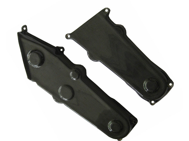 Glossy Plain Weave Carbon Fiber Belt Covers For Ducati Monster M600 M750 M900 Loading Zoom