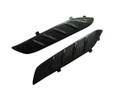 Glossy Plain Weave Carbon Fiber Front Fenderserts for Kawasaki ZX14/ZZR1400 2012+