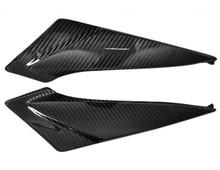 Glossy Twill Weave Carbon Fiber Under Tank Panels for Suzuki  GSXR 600, GSXR 750  2011-2016