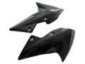 Glossy Plain Weave Carbon Fiber Fender Sides for Kawasaki Z1000 07-09