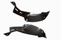 Air Intake Covers in Glossy Twill Weave Carbon Fiber for Kawasaki ZX6R 2013+