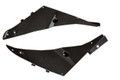Under Seat Panels in Glossy Twill Weave Carbon Fiber for Kawasaki ZX6R 2009-2012