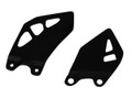 Heel Plates in Glossy Plain Weave carbon with fiberglass for Kawasaki ZX10R 2011+