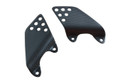 Heel Guards in Matte Plain Weave Carbon with Fiberglass for Kawasaki ZRX1100,1200
