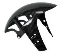 Front Fender in Glossy Twill Weave Carbon Fiber for Yamaha R1 2009+, FZ-10/MT-10 2017+, R6 2017+