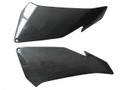 Under Upper Fairing Covers for Aprilia Tuono V4 11+ in Glossy Plain Weave Carbon Fiber