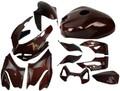 Full set of Ducati Panigale 899,1199 in Black & Orange Glossy Twill Weave 100% Carbon Fiber