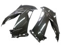 Side Fairings in Glossy Twill Weave Carbon Fiber for Kawasaki ZX6R 2013+