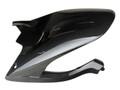 Rear Hugger with Brake Line Cover in Glossy Plain Weave Carbon Fiber for Ducati Multistrada 1200 2015-2017