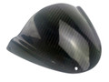 Windshield (both sides finished) in Glossy Plain Weave Carbon Fiber for Ducati Monster 696, 796, 1100 (top view)