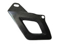 Glossy Plain Weave Carbon Fiber Lower Chain Guard for Aprilia RSV4 2009+, Tuono V4 2011+Weave Carbon Fiber