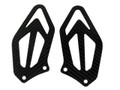Heel Guards in Glossy Twill Weave Carbon Fiber for BMW S1000RR 2015+