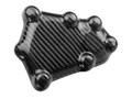 Ignition Cover Guard (Style 2)  in Glossy Twill Weave Carbon Fiber for BMW S1000R, S1000RR, S1000XR