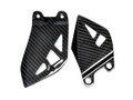 Heel Plates in Glossy Twill Weave Carbon Fiber for Kawasaki ZX10R 2016+