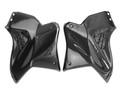 Upper Tank Covers w/ Aluminium Grill in Glossy Twill Weave Carbon Fiber for Kawasaki H2