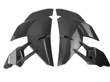Side Fairings in Glossy Twill Weave Carbon Fiber for Kawasaki H2