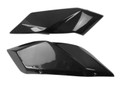 Tail Side Panels in Glossy Twill Weave Carbon Fiber for Kawasaki H2