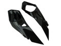 Air Intake Covers in Glossy Twill weave Carbon Fiber for Kawasaki H2