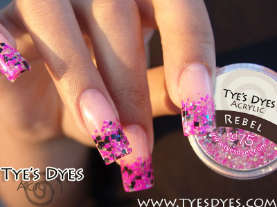 Pre Mixed Hot Pink And Black Chunky Glitter Acrylic Rebel Designer Mix