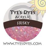 Tye's Dye's Frisky Glitter & Acrylic Mix. Sun Palace Nail Supply, Medford Oregon.