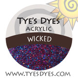 Tye's Dye's Wicked Glitter & Acrylic Mix. Sun Palace Nail Supply, Medford Oregon.