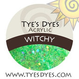 Witchy designer glow in the dark Halloween Green acrylic mix by eye's Dyes