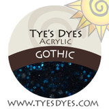 Gothic designer dark glowing Green Black acrylic mix by Tye's Dyes