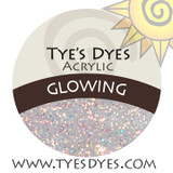 Glowing designer Iridescent shimmering glow in the dark acrylic mix by Tye's Dyes