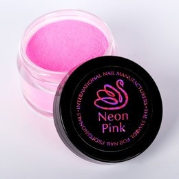Neon Pink Sparkly Acrylic