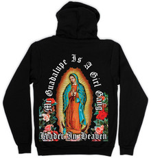 Leader In Heaven Black Pullover Hoodie (double sided print)