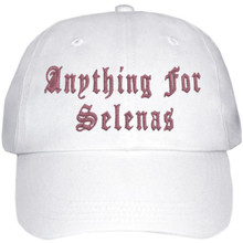 Anything For Selenas Hat (White W/ Pink)