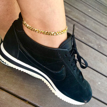 Cuban Anklet Thick (14K Gold Plated)