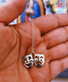 Smile Now, Cry Later Sterling Silver Necklace