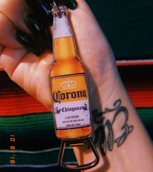 Corona Chingona Keychain Bottle Opener