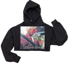Concrete Rose Hoodie (Cropped)