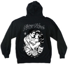 Always & Forever Zip Up Hoodie Black