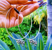 Smile Now, Cry Later Hoop Earrings