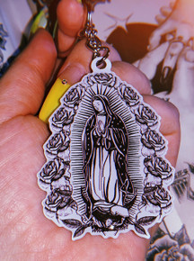 La Rosa De Guadalupe Keychain