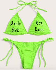 Smile Now, Cry Later Neon Bikini