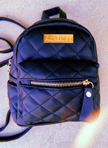 Lux Rosa Quilted Mini Backpack