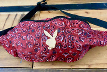 Lux Rosa Playgirl Bandana Fanny Pack (RED)
