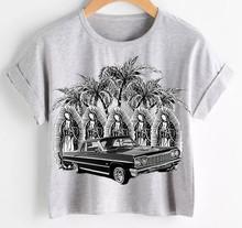 Palm Trees & Impalas Mid-Length Cuffed Tee