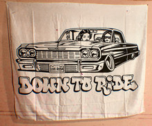 Down To Ride Large Wall Tapestry
