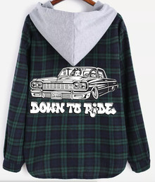 Down To Ride Hooded Flannel