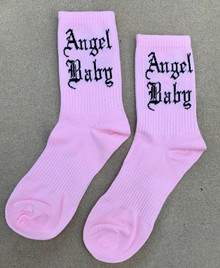 Angel Baby Socks (Light Pink)