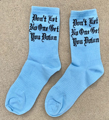 Get You Down Baby Blue Socks