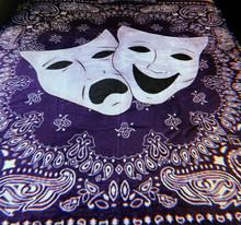 Smile Now, Cry Later Blue Bandana Fleece Blanket