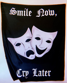 Smile Now, Cry Later Wall Tapestry (Black)