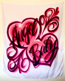 Angel Baby Airbrushed Wall Tapestry